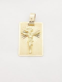 14k jesus on tag lrg