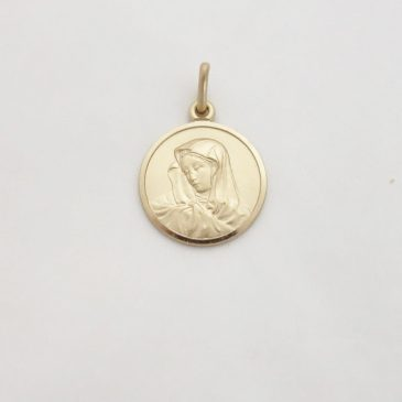 14k Madonna Medal From Italy: Friday's Focus