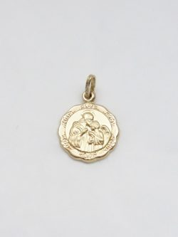 14k hollow communion medal