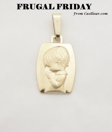 ff 14k praying boy medal