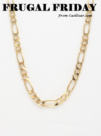 ff 14k solid figaro chain
