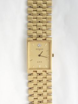 mens diamond wittnauer yellow toned watch