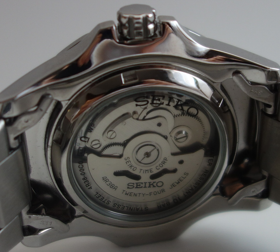 mens seiko automatic watch back