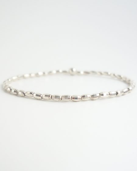 sterling silver bracelet with oval beads