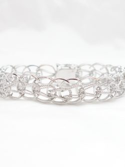 sterling silver weaved bracelet