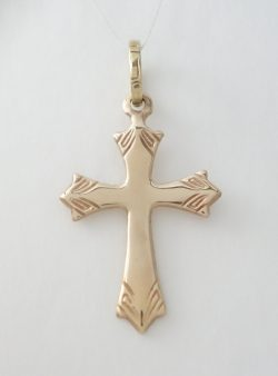 14k cross with pointed edges