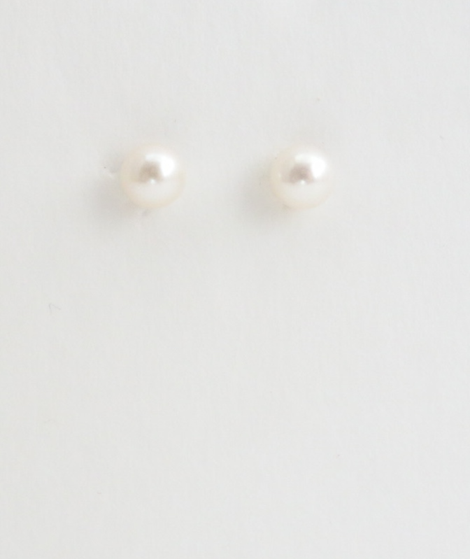 14k pearl earrings 5mm