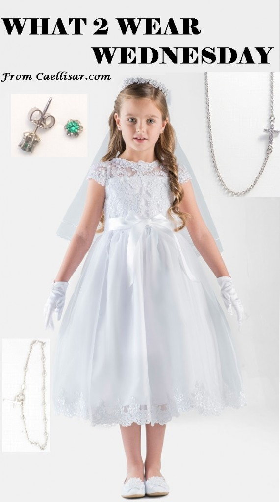 communion dress and accessories