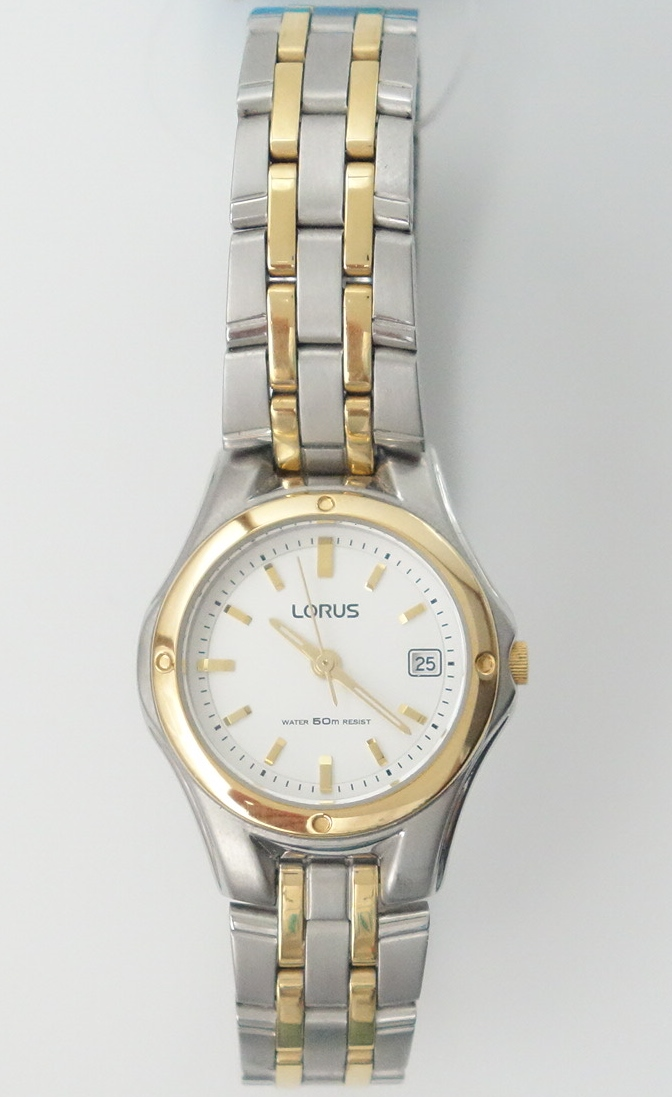 ladies two tone lorus watch