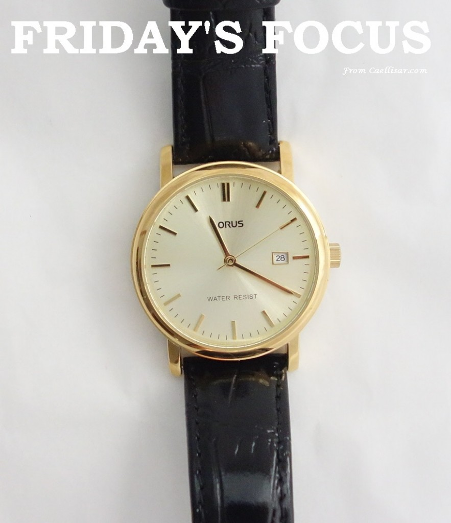 ff mens lorus yellow dial  and leather strap