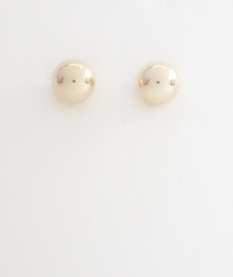 14k bead earrings 6mm