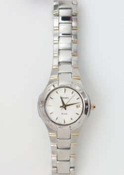 ladies two tone seiko watch
