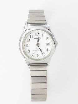 ladies lorus silver toned expansion bracelet watch