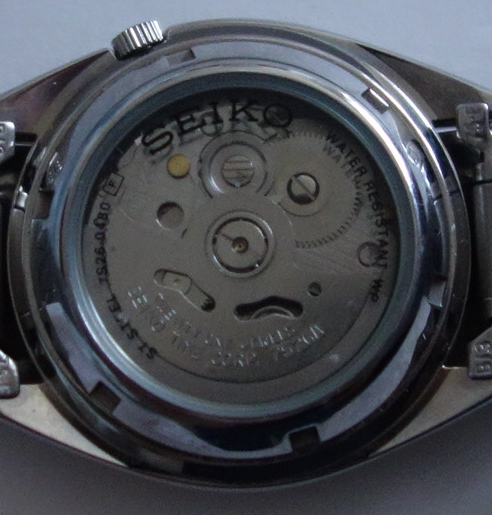 mens seiko automatic watch back view