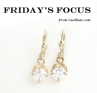 ff 10k drop earrings with cubic zirconias