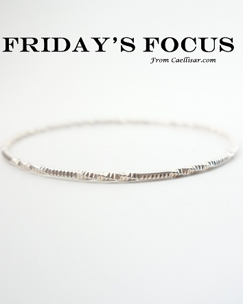 ff sterling silver fancy bangle side view