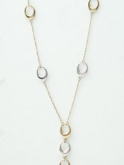 10k white and yellow gold chain