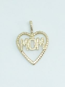 10k mom in heart charm