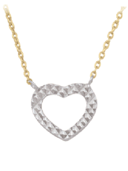 heart charm and chain